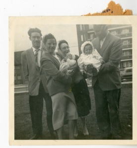 Christening party on Woodberry Down, 1956